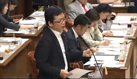 【速報】参議院決算委員会で石橋議員、国際連帯税につき質問