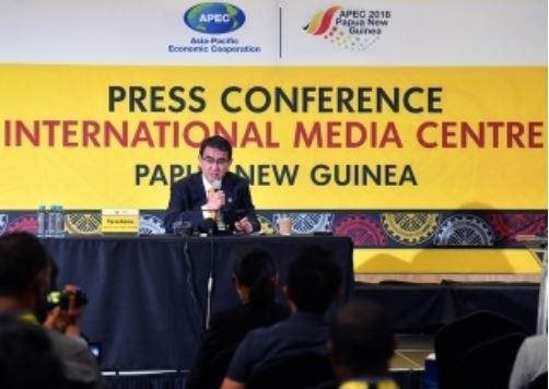 APEC閣僚会議で河野外相が国際連帯税を提案
