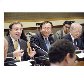 「人間の安全保障25周年シンポジウム」(NY)で国際連帯税を発信=星野国連大使